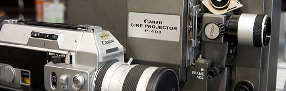 cine camera and projector
