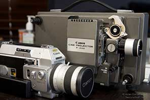 canon cine projector and camera